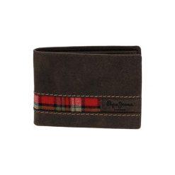 Portfele męskie: Skórzany portfel w kolorze brązowym – (S)8 x (W)11 x (G)1 cm