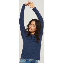 Bluzki damskie: Gładka bluzka - Granatowy