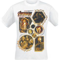 T-shirty męskie z nadrukiem: Avengers Infinity War – Golden Group T-Shirt biały