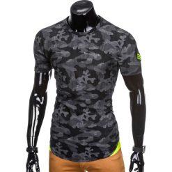 T-shirty męskie: T-SHIRT MĘSKI Z NADRUKIEM MORO S864 – GRAFITOWY