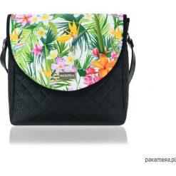 TOREBKA PURO 2054 TROPICAL. Szare torebki klasyczne damskie Pakamera, w kolorowe wzory. Za 179,00 zł.