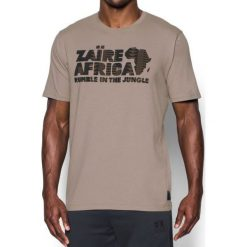 Under Armour Koszulka męska Ali RNTJ Zaire 74 Tee Beżowy r. XL (1299033-599). Szare koszulki sportowe męskie marki Under Armour, l, z dzianiny, z kapturem. Za 133,73 zł.