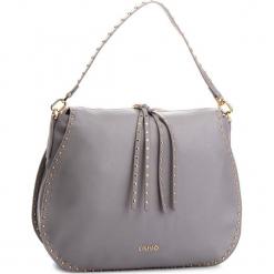 Torebka LIU JO - L Hobo Gioia A68051 E0033 Frozen 63850. Czarne torebki klasyczne damskie marki Liu Jo, z materiału. Za 649,00 zł.