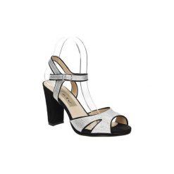 Sandały Casu  Sandały na słupku  LS27702P. Szare sandały damskie na słupku marki Casu. Za 99,99 zł.