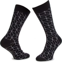 Skarpety Wysokie Męskie DOTS SOCKS - DTS-SX-111-X Czarny. Czarne skarpetki męskie Dots Socks, z bawełny. Za 19,90 zł.