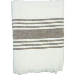 """Kąpielówki męskie: Fouta """"Karabouk"""" w kolorze brązowo-białym – 160 x 90 cm"""