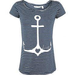 Fresh Made Love Koszulka damska granatowy/biały. Białe bluzki asymetryczne Fresh Made, s, z nadrukiem, z jersey, z okrągłym kołnierzem. Za 24,90 zł.
