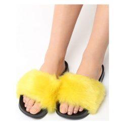Chodaki damskie: Żółte Klapki Hirsute