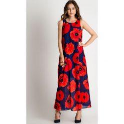 Sukienka maxi w czerwone maki BIALCON. Czerwone długie sukienki marki BIALCON, na lato, w kolorowe wzory, w kształcie a. W wyprzedaży za 293,00 zł.