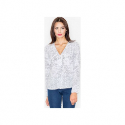 Bluzka M508 Wzór 25. Szare bluzki koszulowe FIGL, l, z tkaniny. Za 119,00 zł.