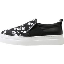 Creepersy damskie: MSGM MULTISTRAP LOGO SLIP ON Półbuty wsuwane black