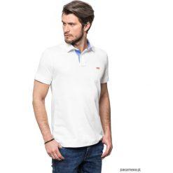 Koszulki męskie: Koszulka polo biała z jeansem