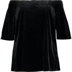 Bluzki asymetryczne: City Chic PLUSH OFF SHOULDER Bluzka black