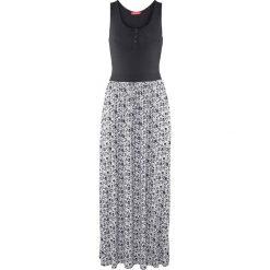 Długie sukienki: Długa sukienka shirtowa bonprix czarny