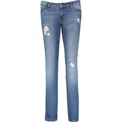 """Dżinsy """"Jasmin"""" - Slim fit - w kolorze niebieskim. Niebieskie spodnie z wysokim stanem marki Mustang, z aplikacjami, z bawełny. W wyprzedaży za 217,95 zł."""