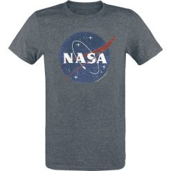 NASA NASA Circle Logo T-Shirt ciemnoszary. Szare t-shirty męskie z nadrukiem NASA, m, z okrągłym kołnierzem. Za 79,90 zł.
