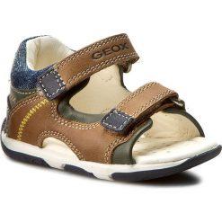 Sandały GEOX - B San.Tapuz B. A B720XA 0CL85 C5GF4 Caramel/Navy. Brązowe sandały męskie skórzane Geox. W wyprzedaży za 179,00 zł.