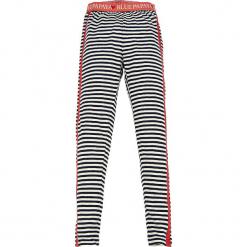 Legginsy w kolorze granatowo-białym. Niebieskie legginsy dziewczęce marki KIPSTA, z elastanu. W wyprzedaży za 32,95 zł.