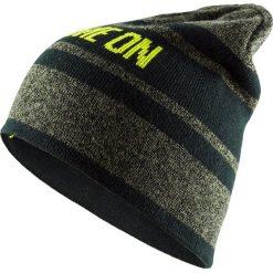 Czapka męska CAM607 - khaki melanż - Outhorn. Brązowe czapki zimowe męskie Outhorn. W wyprzedaży za 24,99 zł.