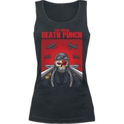 Topy damskie: Five Finger Death Punch Skull Pilot Top damski czarny