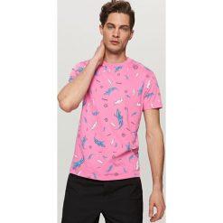 T-shirty męskie: T-shirt z zabawnym nadrukiem – Różowy
