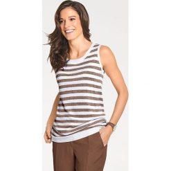 Odzież damska: Zestaw w kolorze biało-brązowym
