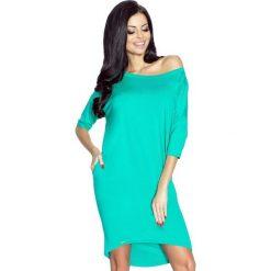 Sukienki: Monica – sukienka dzienna przysłaniająca niedoskonałości zieleń turecka