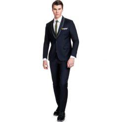 Garnitur LEONARDO GAGE000043. Czarne garnitury Giacomo Conti, z lycry. Za 899,00 zł.