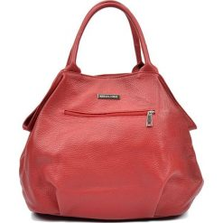 Torebki klasyczne damskie: Skórzana torebka w kolorze czerwonym – (S)30 x (W)37 x (G)13 cm