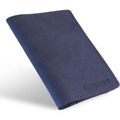 Skórzany portfel SLIM wallet BRODRENE granatowy. Czarne portfele męskie marki Brødrene, w paski, ze skóry. Za 84,90 zł.