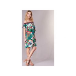 Sukienki krótkie Sisley  NOUGA. Zielone sukienki mini Sisley, z krótkim rękawem. Za 415,20 zł.
