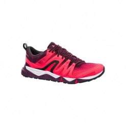 Buty damskie do szybkiego marszu PW 900 Propulse Motion w kolorze różowym. Niebieskie buty do fitnessu damskie marki DOMYOS, z materiału, małe. Za 249,99 zł.
