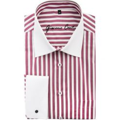 Koszula VITTORE slim 15-01-37. Białe koszule męskie na spinki Giacomo Conti, m, w paski, z bawełny, z włoskim kołnierzykiem. Za 199,00 zł.