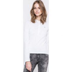 Lacoste - Bluzka. Szare bluzki asymetryczne Lacoste, z bawełny, casualowe, z krótkim rękawem. W wyprzedaży za 219,90 zł.
