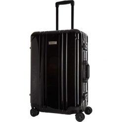 Walizka w kolorze czarnym - 35 l. Czarne walizki marki Platinium, z materiału. W wyprzedaży za 349,95 zł.