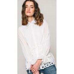 Tommy Hilfiger - Koszula Hayette. Szare koszule damskie marki TOMMY HILFIGER, s, z bawełny, casualowe, z klasycznym kołnierzykiem, z długim rękawem. W wyprzedaży za 359,90 zł.
