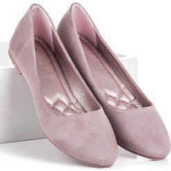 Baleriny damskie: Zamszowe baleriny Seastar odcienie fioletu