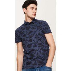 Koszulki polo: Koszulka polo z tropikalnym printem – Granatowy