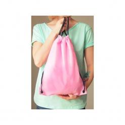 Plecak worek jasnoróżowy. Czerwone plecaki damskie One mug a day, z poliesteru, klasyczne. Za 39,00 zł.