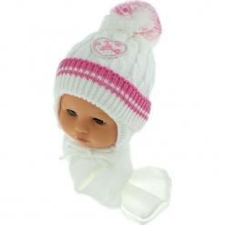 Czapka niemowlęca z szalikiem CZ+S 149B. Szare czapeczki niemowlęce Proman. Za 39,76 zł.