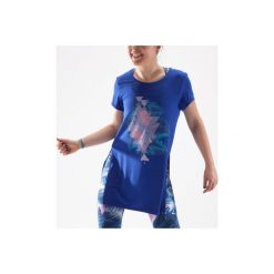 Tunika do tańca długa damska. Niebieskie tuniki damskie z długim rękawem DOMYOS, z okrągłym kołnierzem. W wyprzedaży za 39,99 zł.