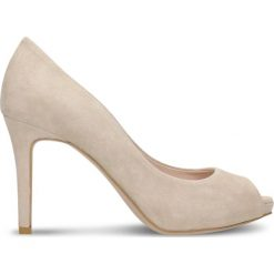 Czółenka OLIVIA. Szare buty ślubne damskie marki Graceland, z materiału, na obcasie. Za 249,90 zł.