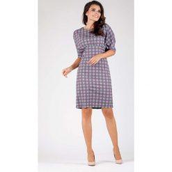 Purpurowa Stylowa Sukienka z Kimonowym Rękawem. Fioletowe sukienki balowe marki Molly.pl, na spotkanie biznesowe, l, oversize. W wyprzedaży za 124,53 zł.