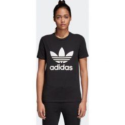 Koszulka adidas Trefoil (CV9888). Czarne bluzki asymetryczne Adidas, z bawełny, z krótkim rękawem. Za 89,99 zł.