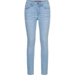 Dżinsy Skinny z haftem bonprix niebieski bleached. Niebieskie jeansy damskie marki bonprix, z haftami, z jeansu. Za 79,99 zł.