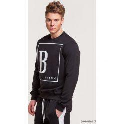 Bluzy męskie: Klasyczna bluza z nadrukiem B