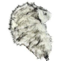Czapka damska Uszanka Pikowane futro biało-czarna. Białe czapki zimowe damskie Art of Polo, z futra. Za 38,41 zł.