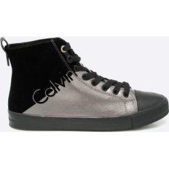 Calvin Klein Jeans - Trampki. Szare trampki i tenisówki damskie marki Calvin Klein Jeans, z gumy. Za 399,90 zł.