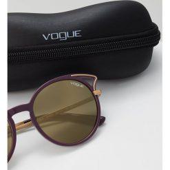 VOGUE Eyewear Okulary przeciwsłoneczne purple light brown. Fioletowe okulary przeciwsłoneczne damskie aviatory VOGUE Eyewear. Za 509,00 zł.