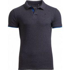 Koszulka polo męska TSM610 - ciemny szary melanż - Outhorn. Szare koszulki polo Outhorn, na lato, m, melanż, z bawełny. W wyprzedaży za 39,99 zł.